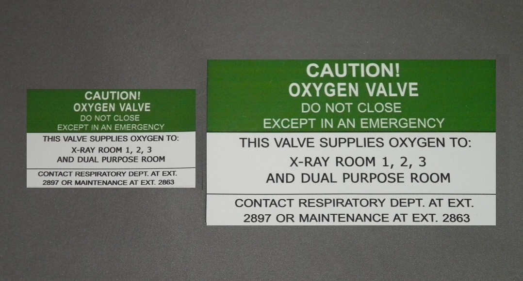 Zone valve and alarm labels medgas1 inc medical gas for Nfpa 99 table of contents